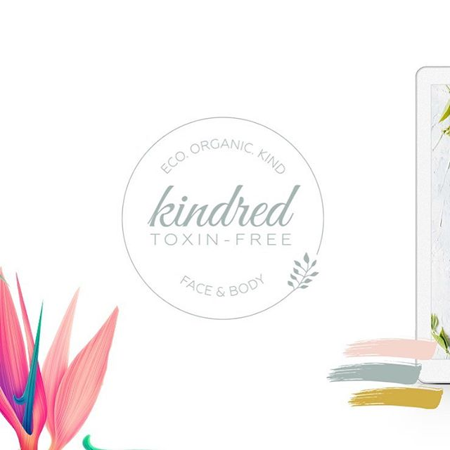 A clean, modern logo update for @kindred.toxinfreefacials 🌱 . When creating the Reset eBook for Kindred, I came up with a refreshed logo that feels more contemporary, in a beautiful dusty sage colour. . Swipe to see the previous version we created in 2015! . #raspberrystripesdesigns #logodesign #graphicdesigner #puzzlefeed #kindredtoxinfreefacials