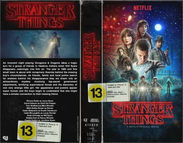 Stranger Things, as imagined as a VHS