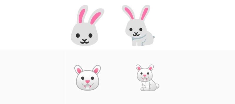 The new Android bunny emojis