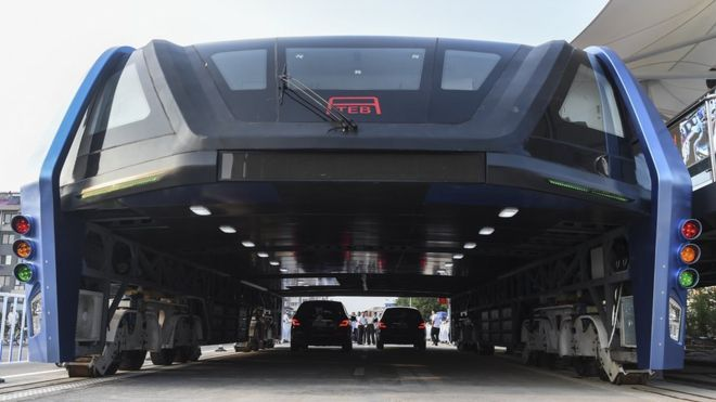 Chinese elevated bus