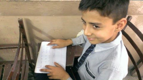 Learner typing on the QWERTY paper-keyboard
