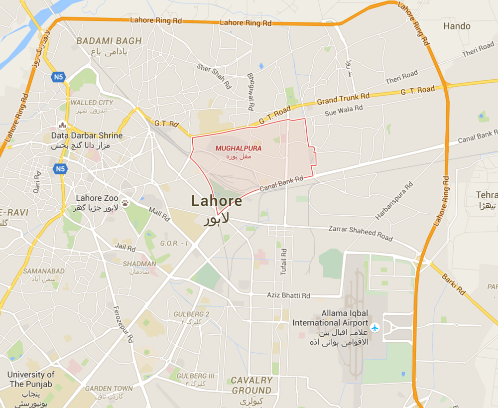 Lahore Mughalpura Map Self Learning EdTech Khud Pakistan