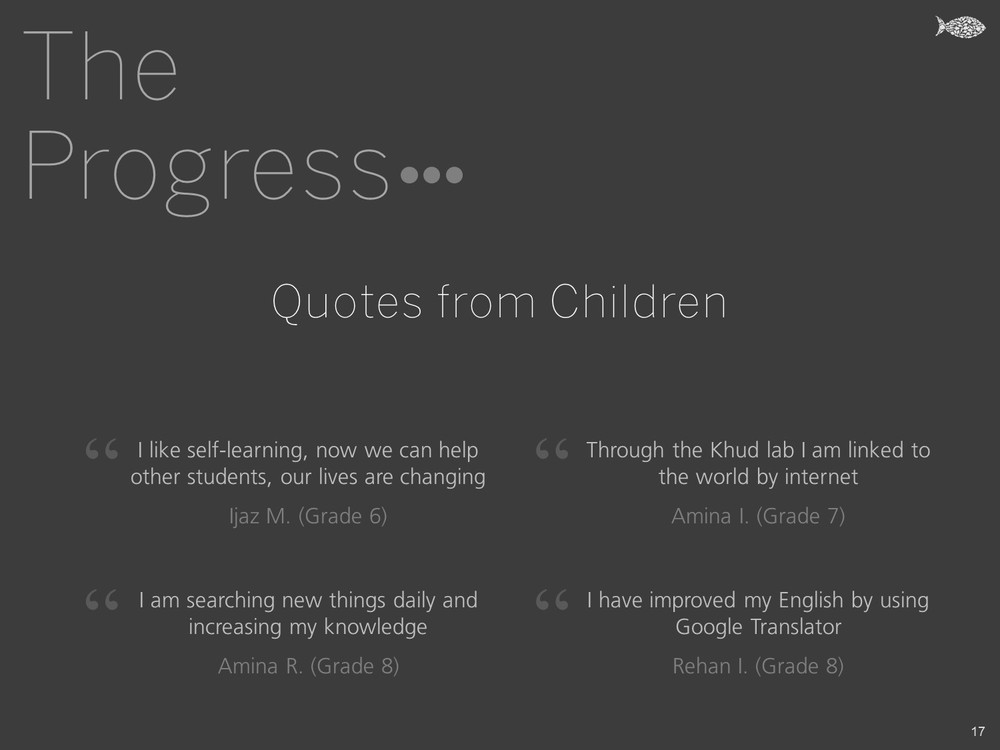 The Progress - Quotes from Children - Khud EdTech Pakistan