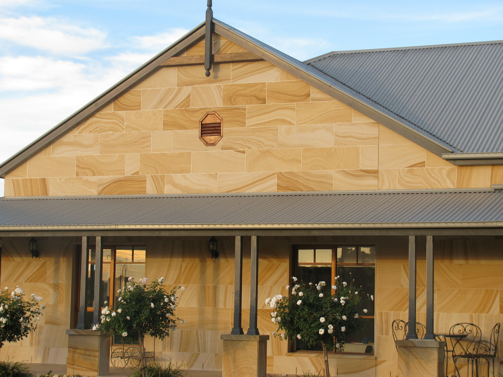 Medium Brown Diamond Sawn Cladding