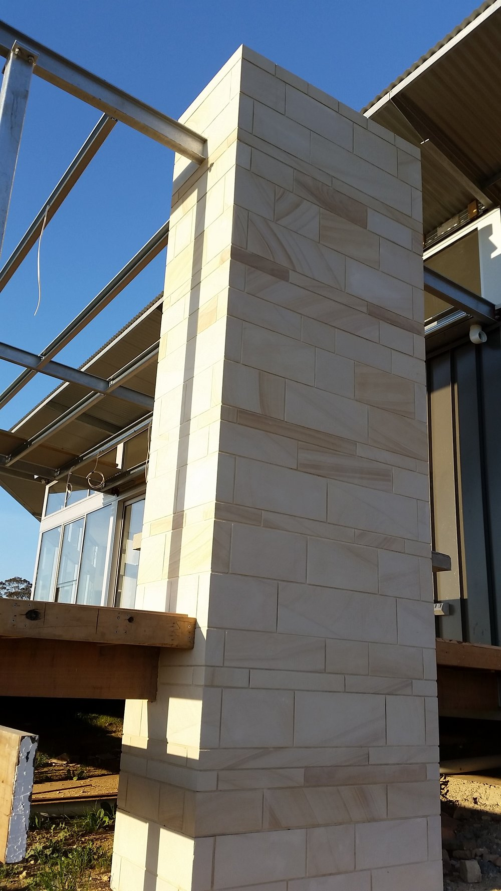 Light Brown Sawn cladding