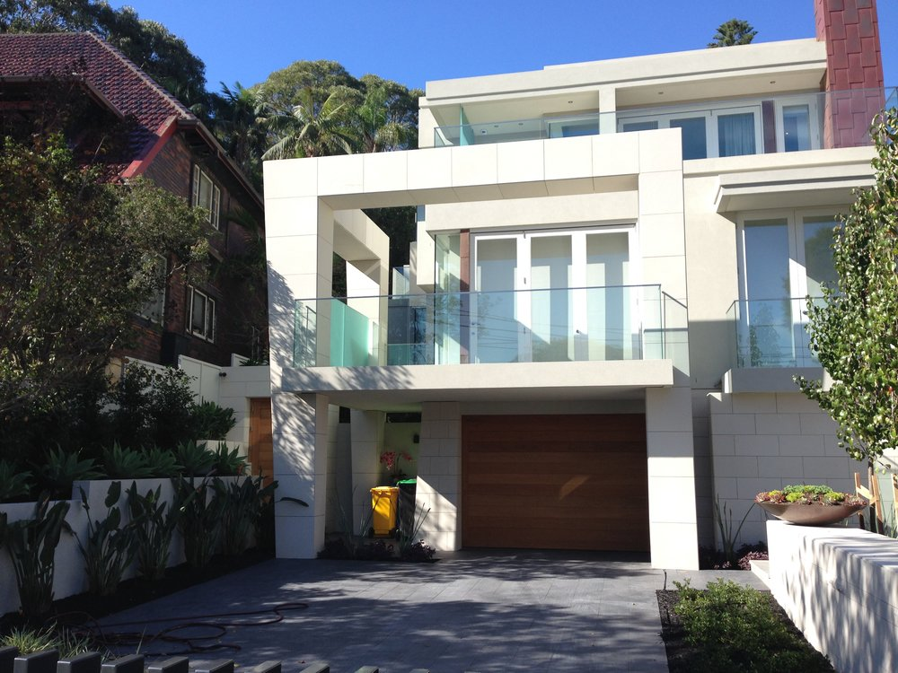 Elite stonemason - vaucluse project- pure white sawn cladding entrance  (4).JPG