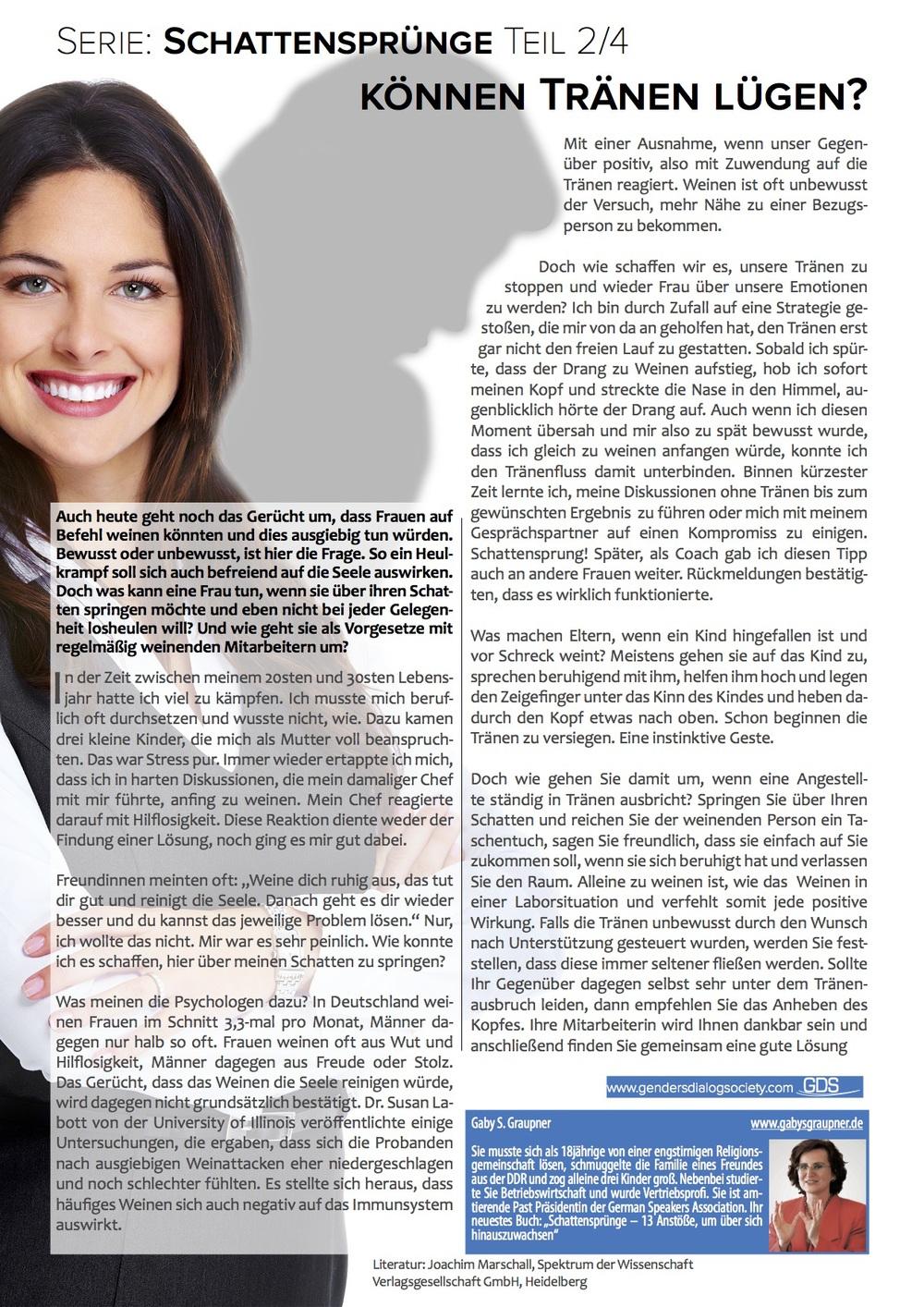 Genders Dialog DAS MAGAZIN - Ausgabe Oktober 2014