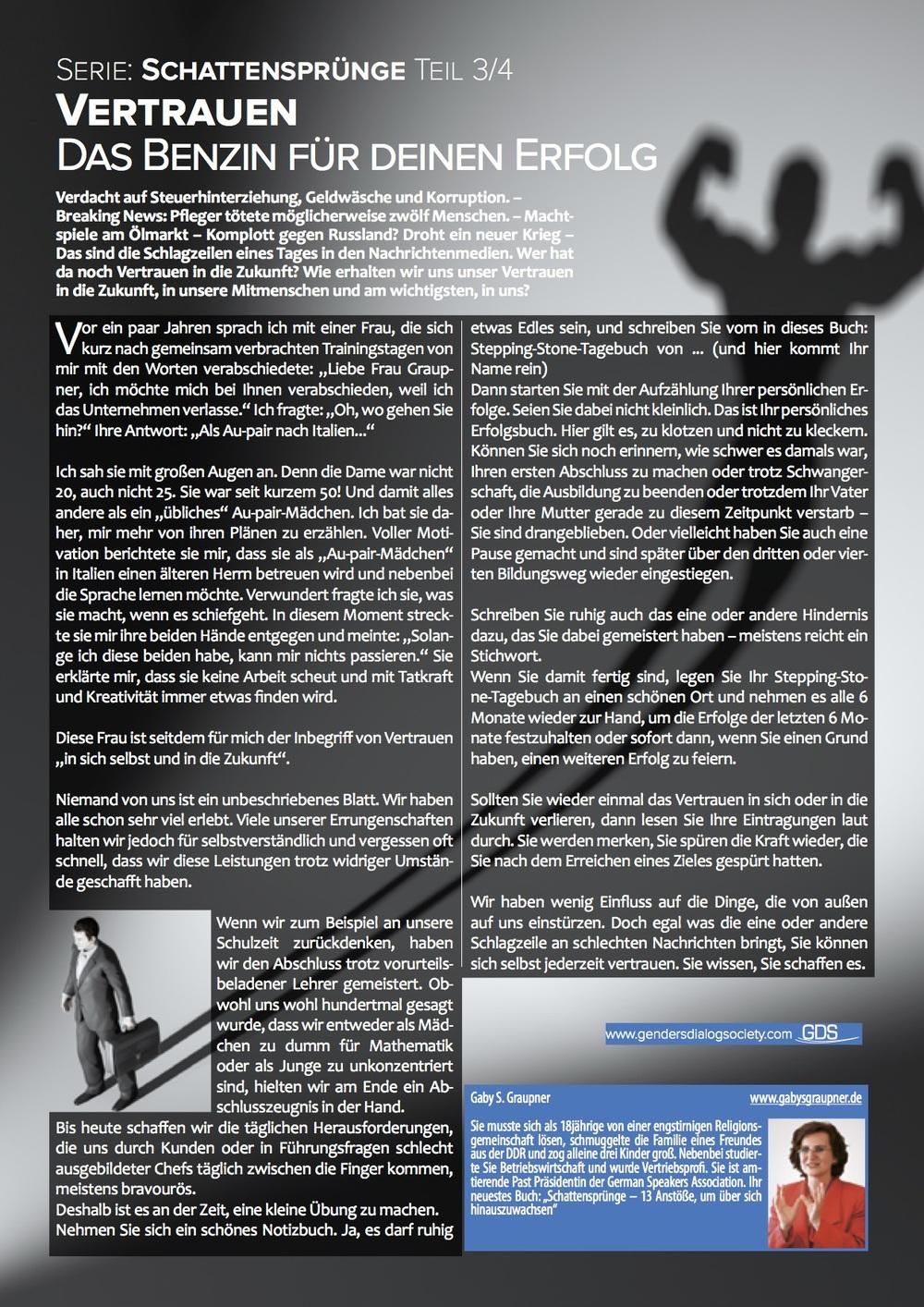 Genders Dialog Das Magazin - Ausgabe Dezember 2014