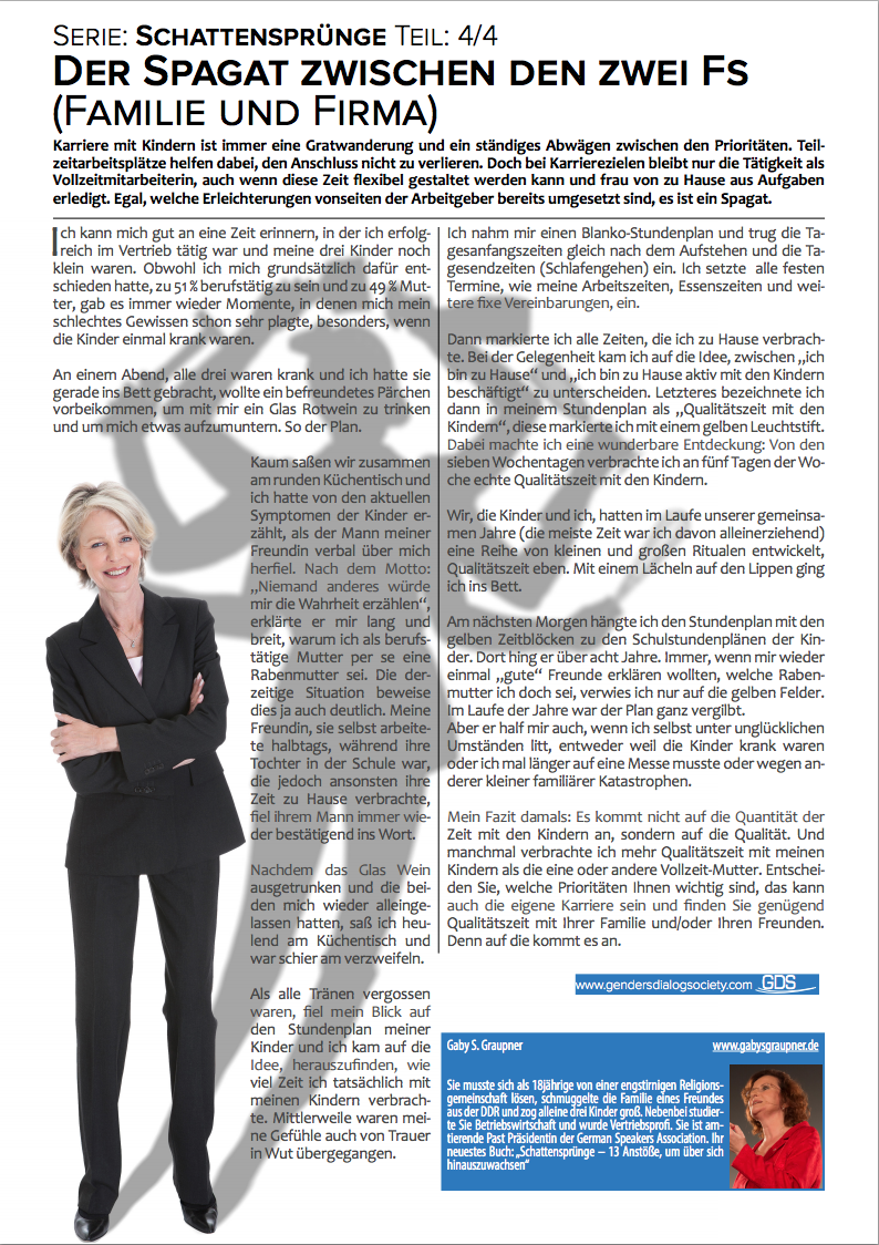 Genders Dialog Das Magazin - Ausgabe Februar 2015