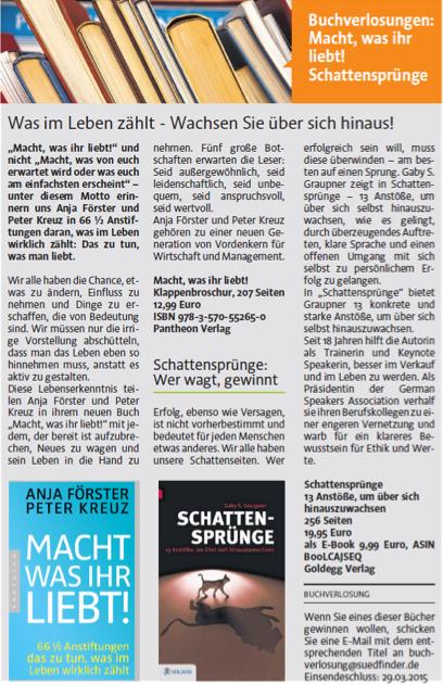 Südfinder Wochenzeitung (Ravensburg) - Ausgabe 25. März 2015