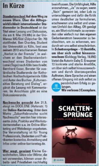 Kölner Illustrierte/ Stadtmagazin - Ausgabe 04/2015