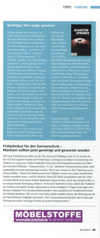 RZ/ Raum & Ausstattung Ausgabe 04/ 2015