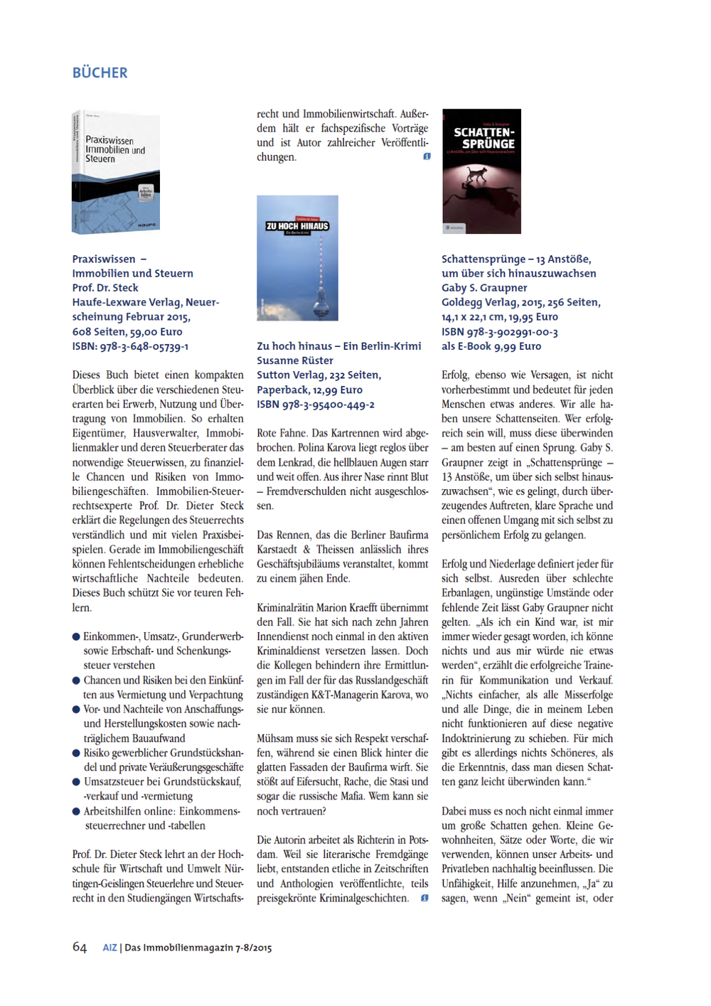 AIZ - Das Immobilienmagazin 07-08/2015