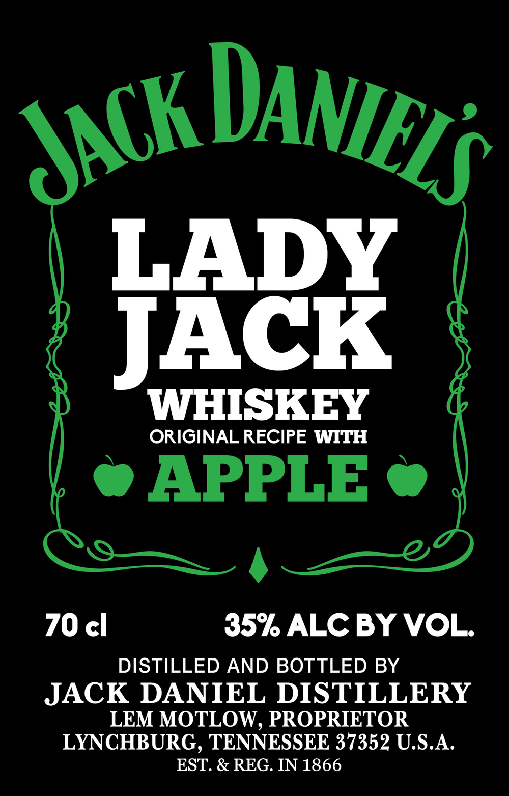 Lady Jack label