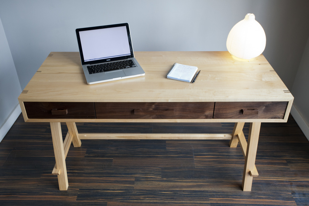 contemporary desk rossitto woodworks