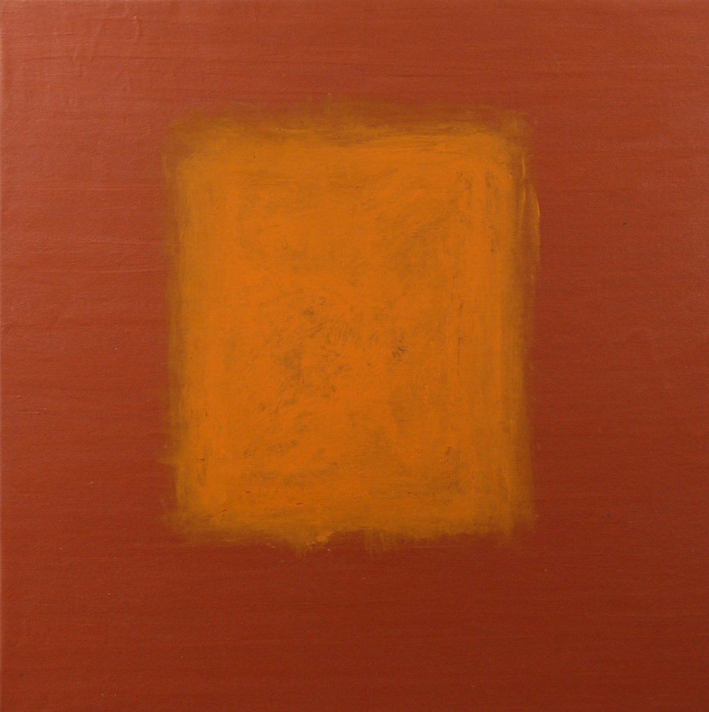Orange On Copper, mixed paint on canvas, 30''x30'', 2015.jpg