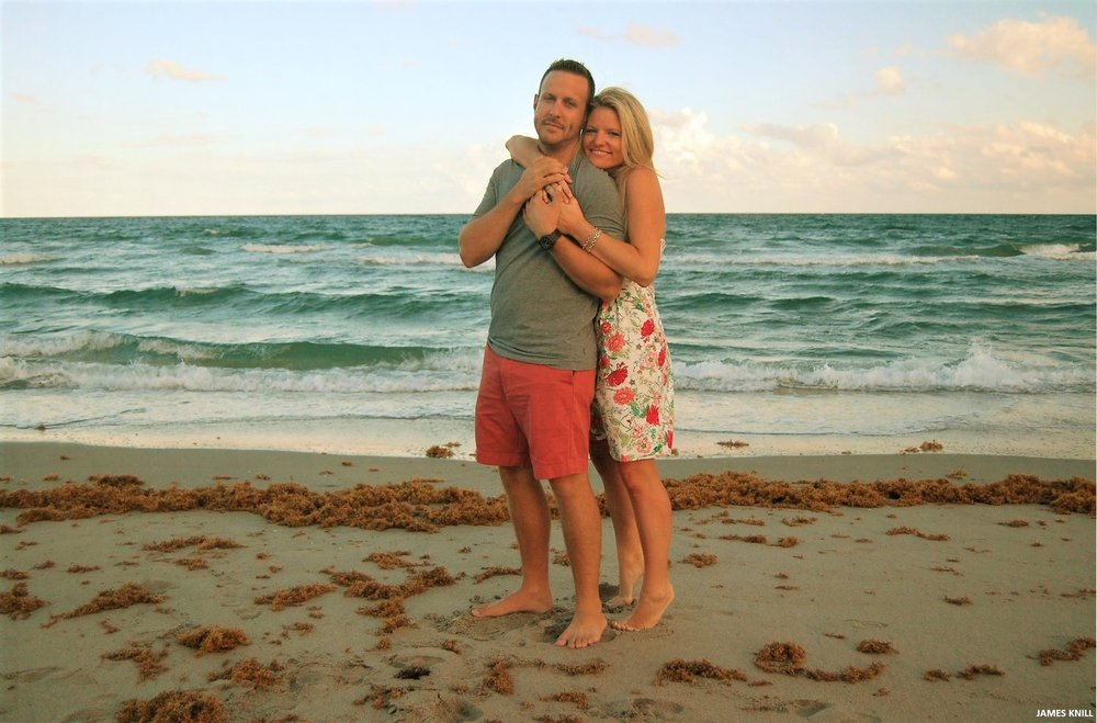 Couple Engagement Photograph On The Beach. Photography By James Knill