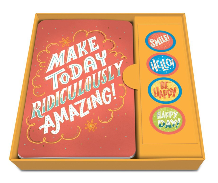 Studio Oh!Notecard Set with Stickers, Happy Thoughts, Box of 12