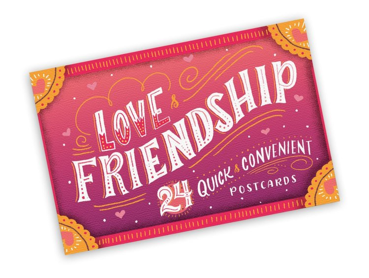 Studio Oh! 24 Count Snail Mail Postcard Book, Love and Friendship
