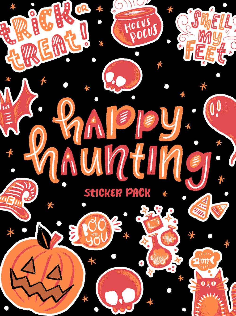 Happy Hauntings Sticker Pack