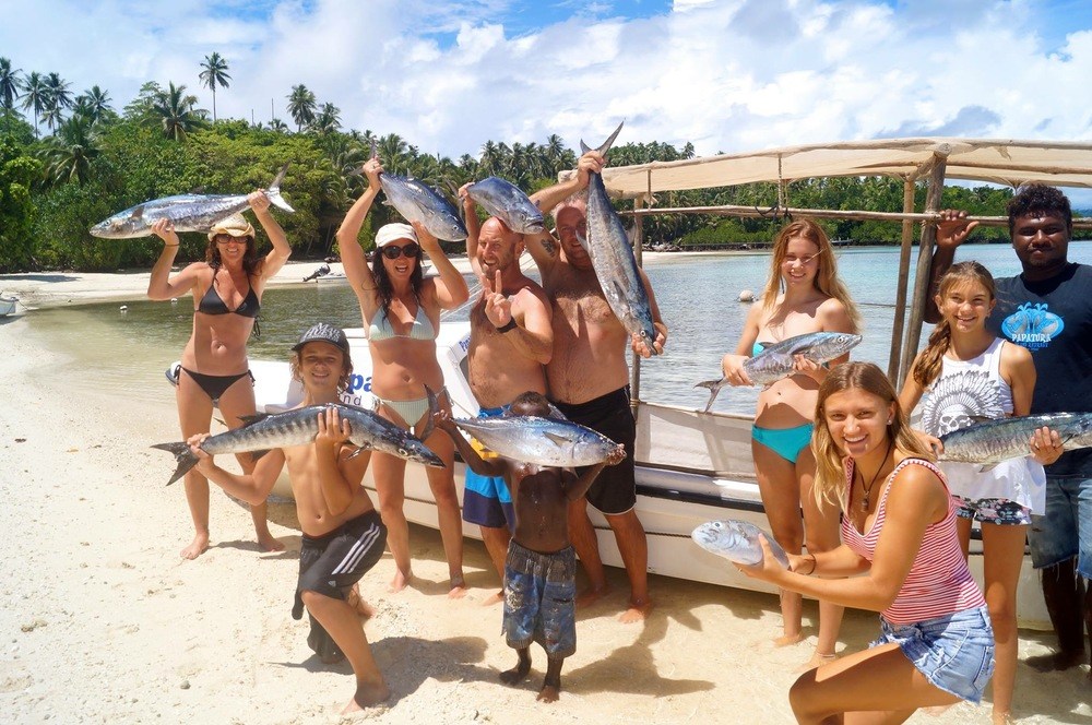Your Solomon Islands travel expert Christine with family and friends - Papatura, Santa Isabel 2015