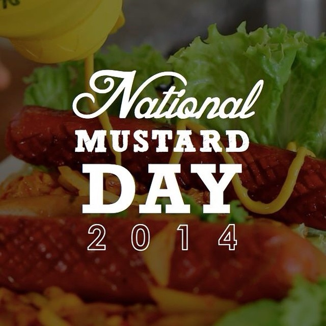 It's National Mustard Day! Do you prefer #ketchup or #mustard on your #Dawg?