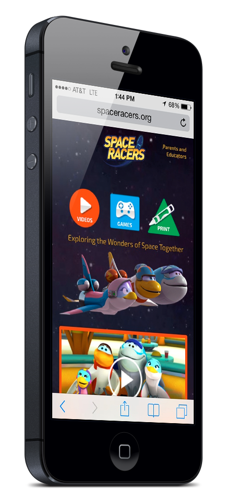 Mobile-First Design Approach SpaceRacers.org was designed with a mobile-first methodology — the website was optimized for smartphone and tablet users before design work was begun for the desktop layout.
