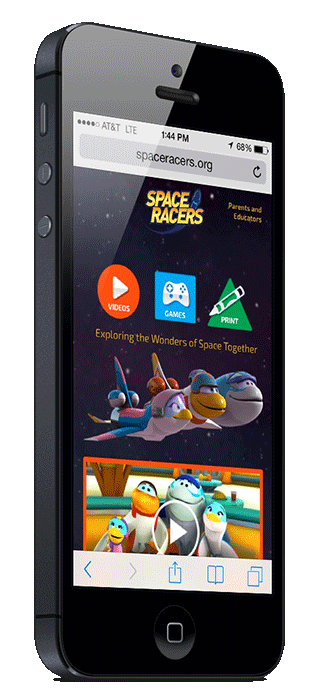 A Great Website for KidsSpaceRacers.org features a responsive design that is optimized for mobile and tablet use. Spaceracers.org was built on Pimcore 2.0.