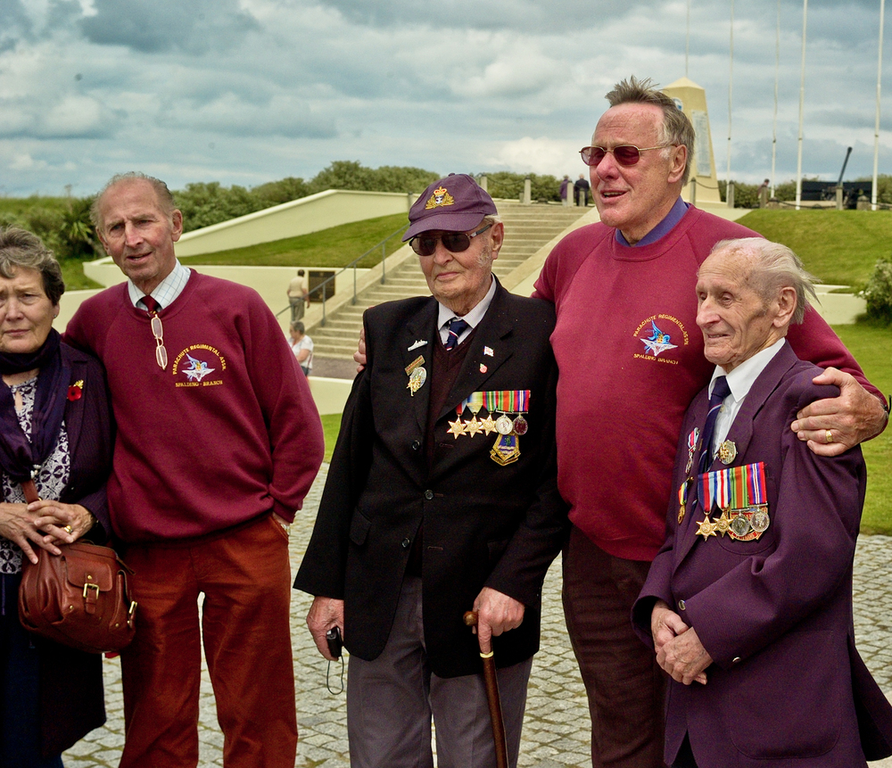 A few of the English veterans who came to pay respects to the American soldiers of Omaha Beach.
