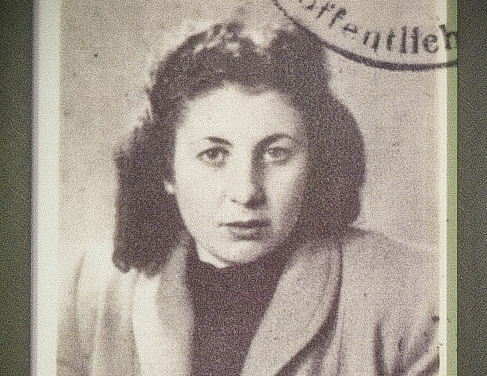 Rose Williams, at the age of 17. This passport photograph was taken shortly after her liberation.