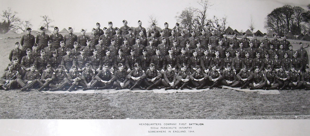 "First Battalion, 502nd Parachute Infantry Regiment in 1944. ""Somewhere in England"