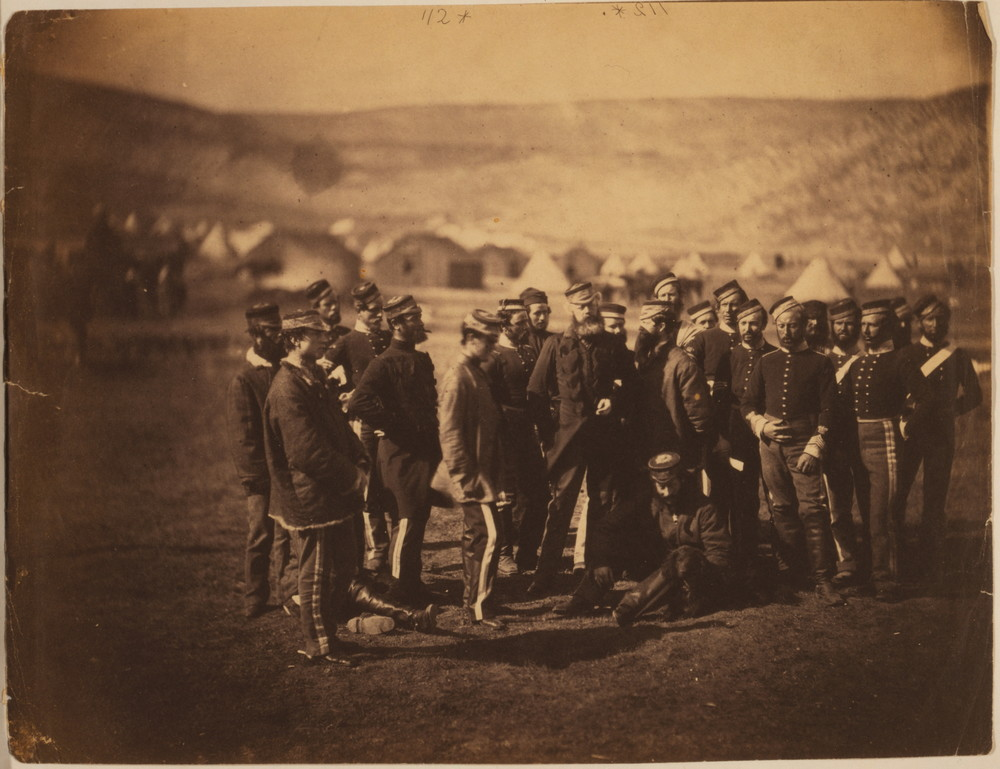 A photograph taken by Roger Fenton of the survivors of the 13th Light Dragoons.