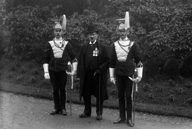 Centre: Sergeant James Mustard of the 17th Lancers and last survivor of the charge. He died February 1916.