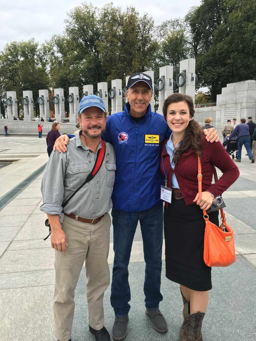 Liberty with Mr. Jeff Miller, cofounder of the Honor Flight program