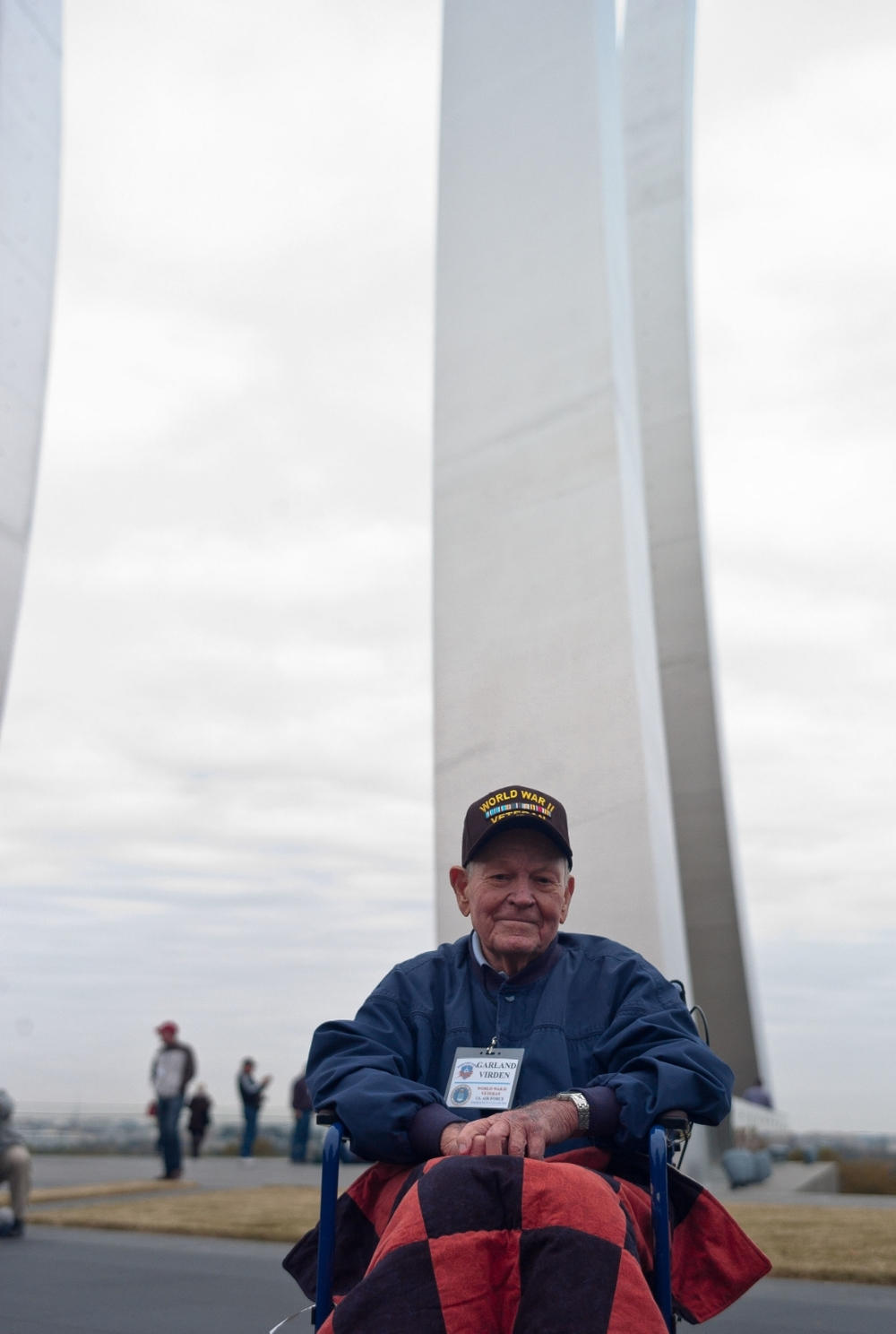 Mr. Virden at the Air Force Memorial