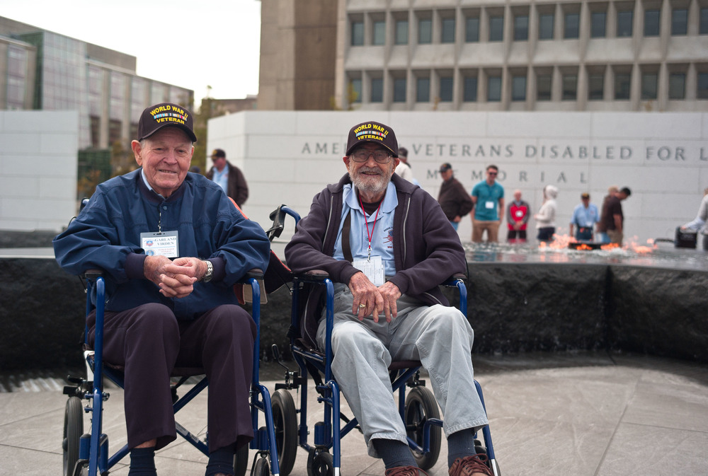 Mr. Virden and Mr. Covill at the American Veterans Disabled for Life Memorial