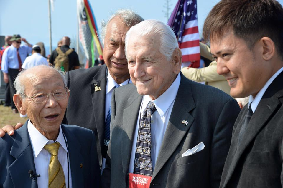 "Tsuruji Akikusa, and General Lawrence Snowden. As Gen. Snowden said, ""Once enemies, now friends."" Photo Cred: Mark Stevens (IJAA)"