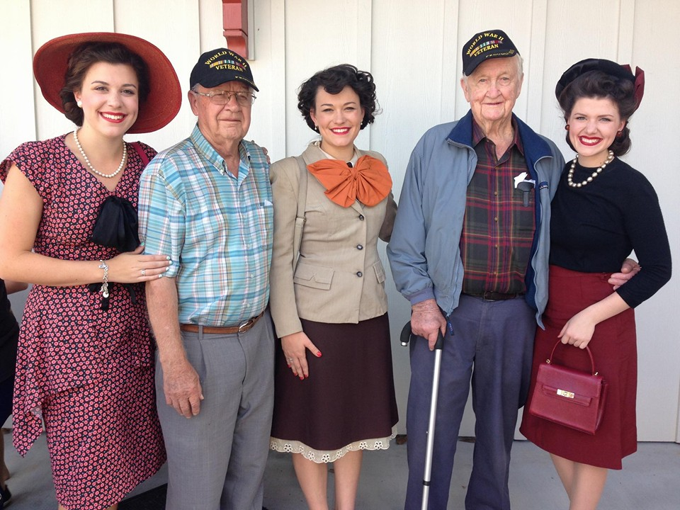 L-R: Liberty, Garnett, Jubilee, DeWitt, and Faith at Toccoa's Currahee Military Weekend