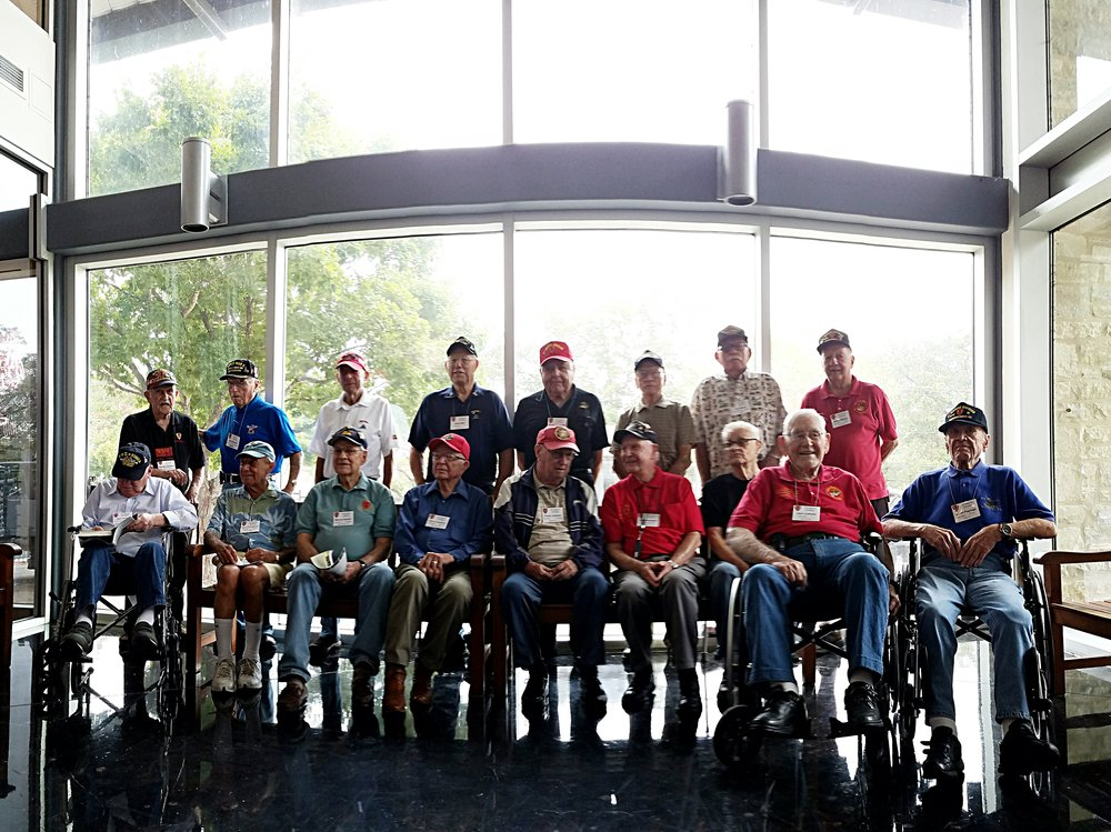 It is pretty much the best experience in the world to walk through a museum on WWII with the veterans who were there.