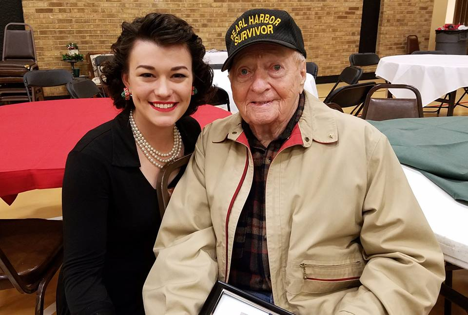 "Jubilee with Pearl Harbor survivor Dale ""Red"" Robinson"
