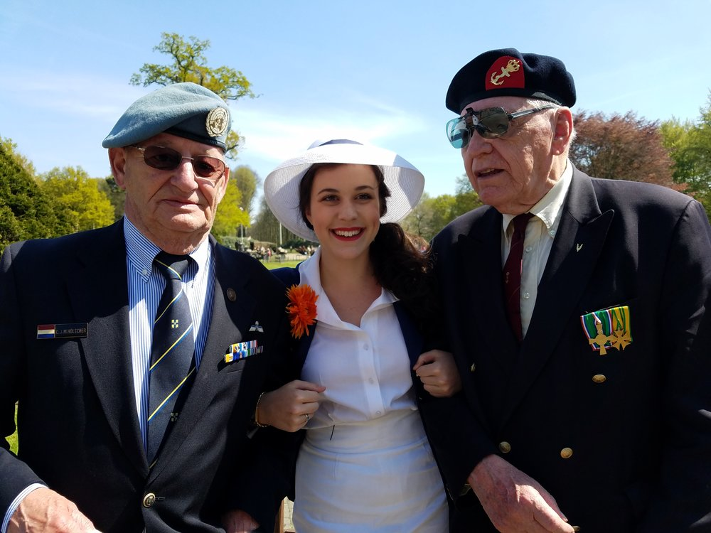 Liberty in Holland with two charming Dutch veterans