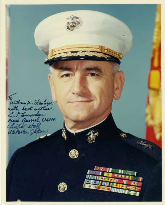 "Gen. Lawrencce ""Larry"" Snowden  April 14, 1921 - February 18, 2017  Marine Corps - Iwo Jima"