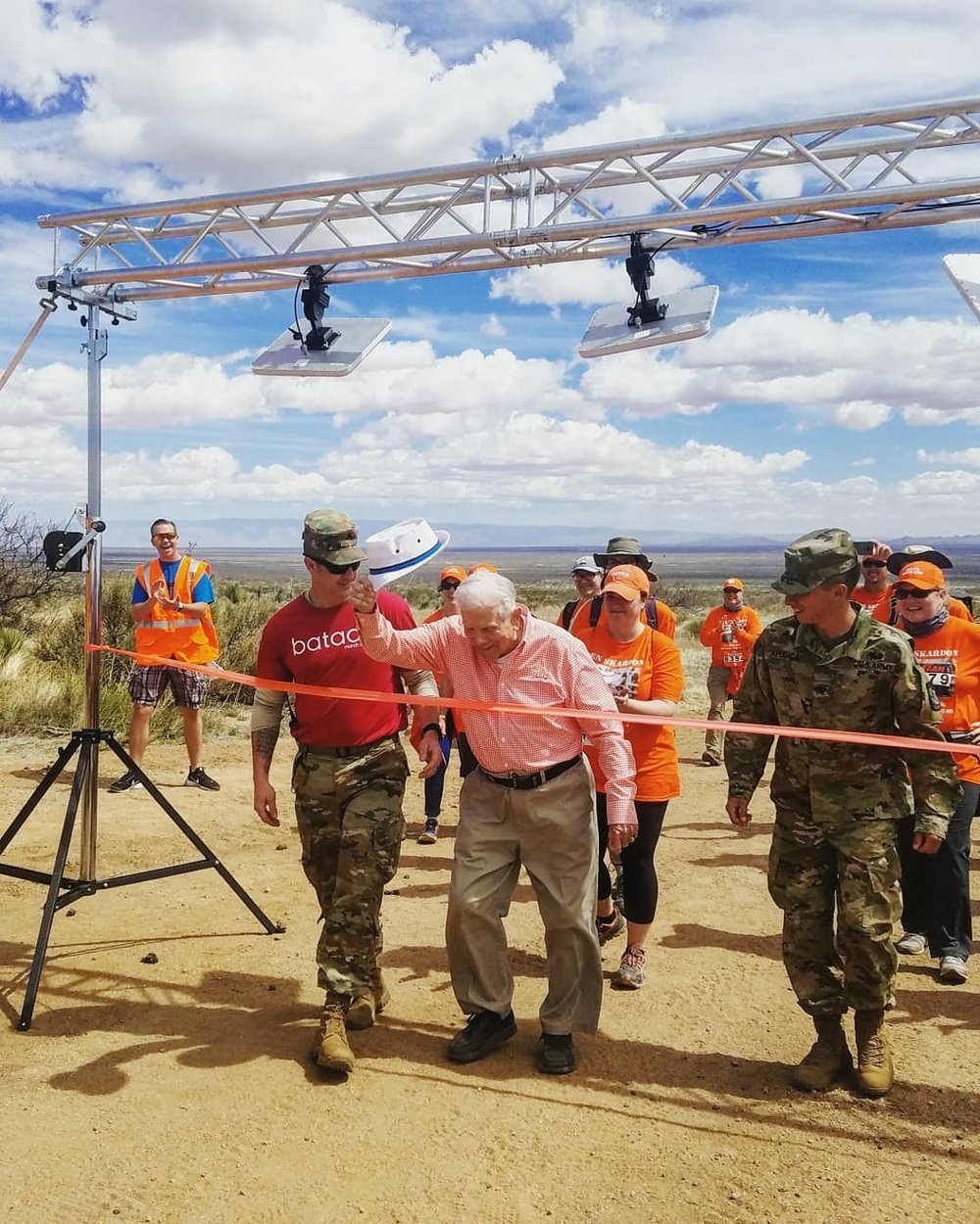 Colonel beverly skardon crosses his personal finish line at the bataan memorial death march