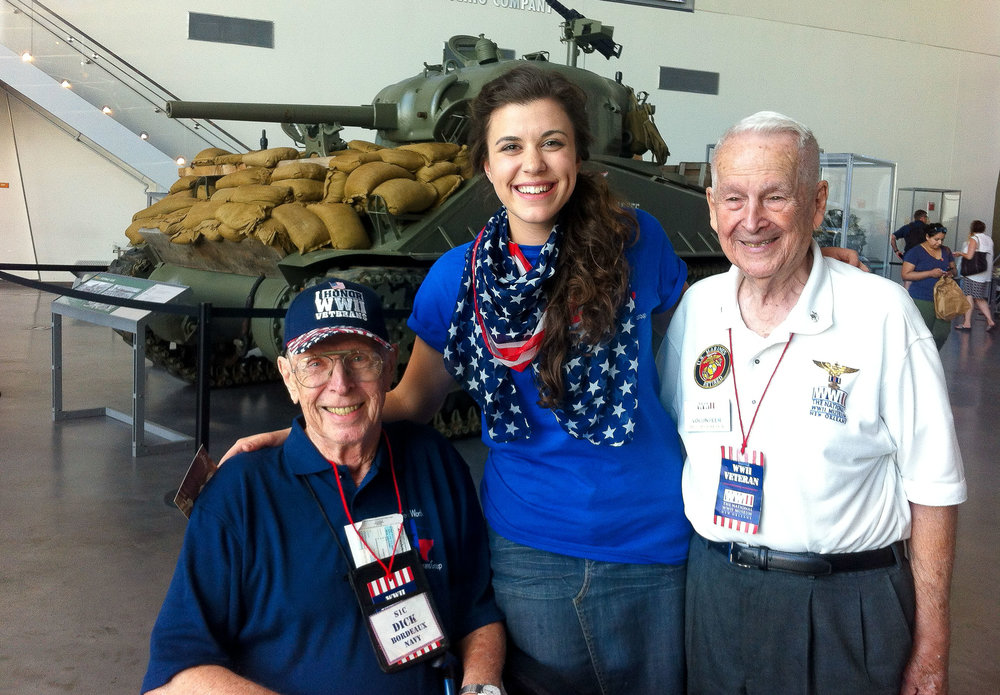 a special meeting between war veterans: dick bordeaux and Lt. colonel Art arceneaux.
