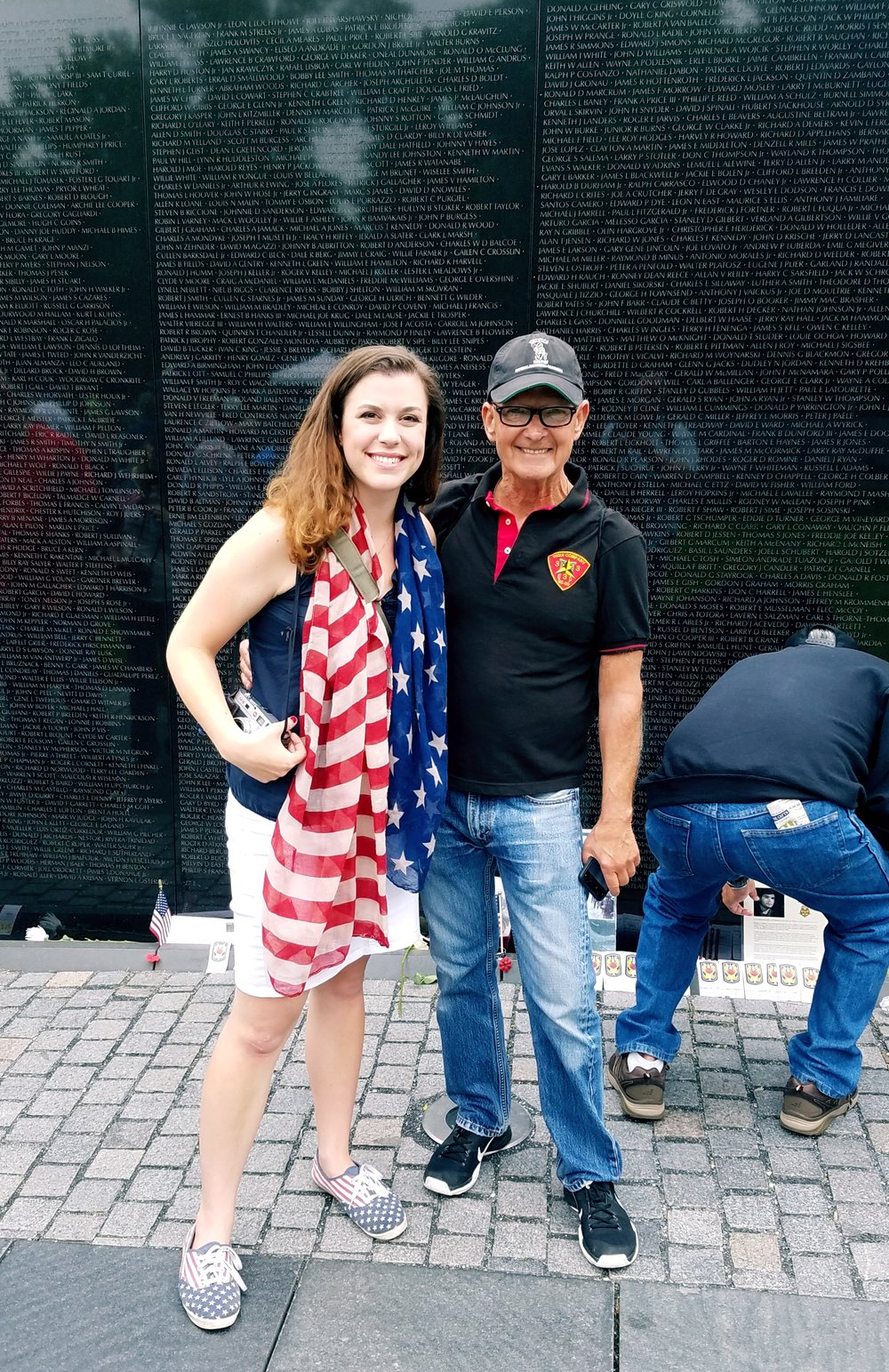 Mr. Stevenson, a veteran of the 3rd Marine Division was in town paying respects to the fallen at the Wall.