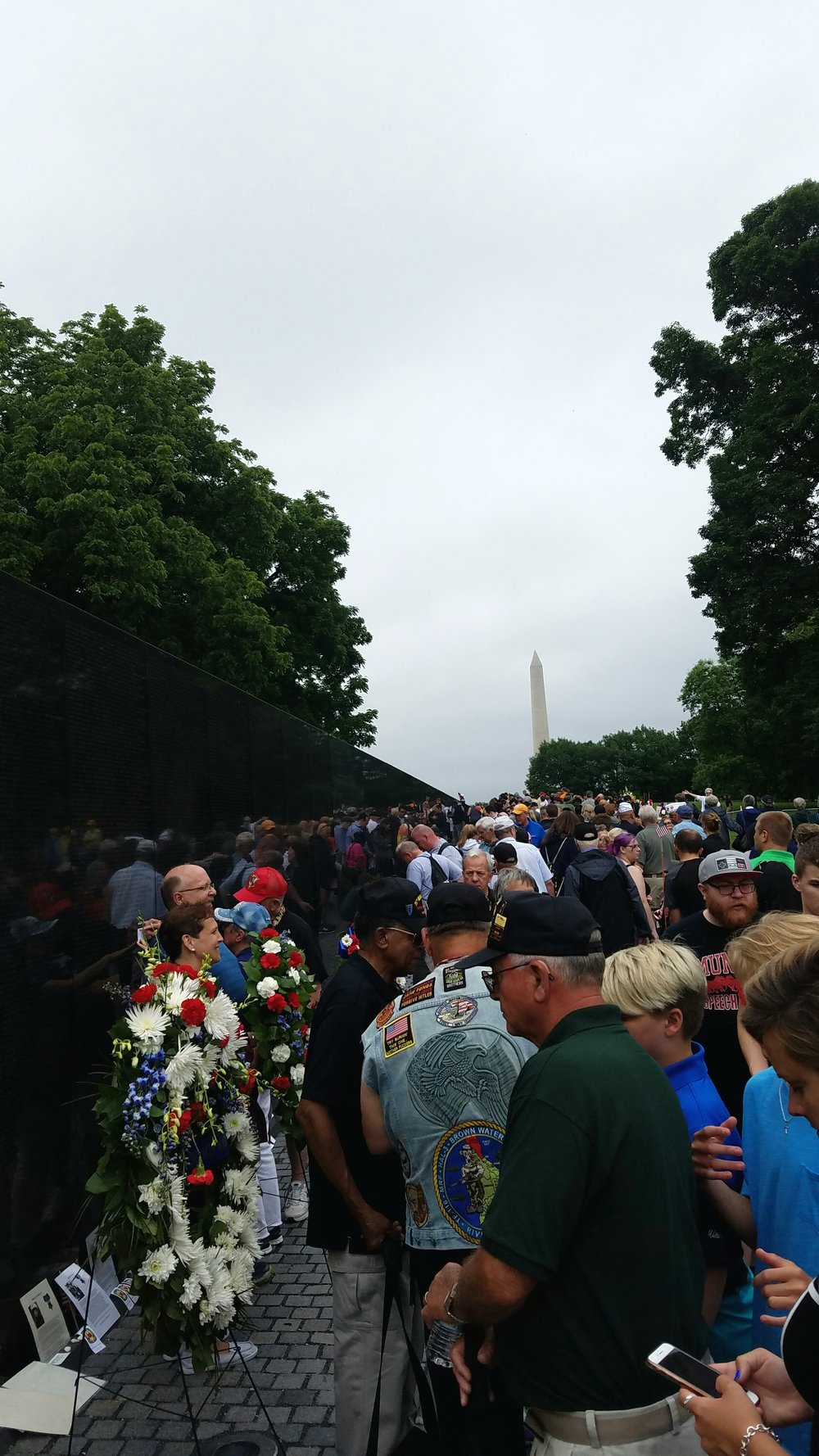 Vietnam Wall on Memorial Day