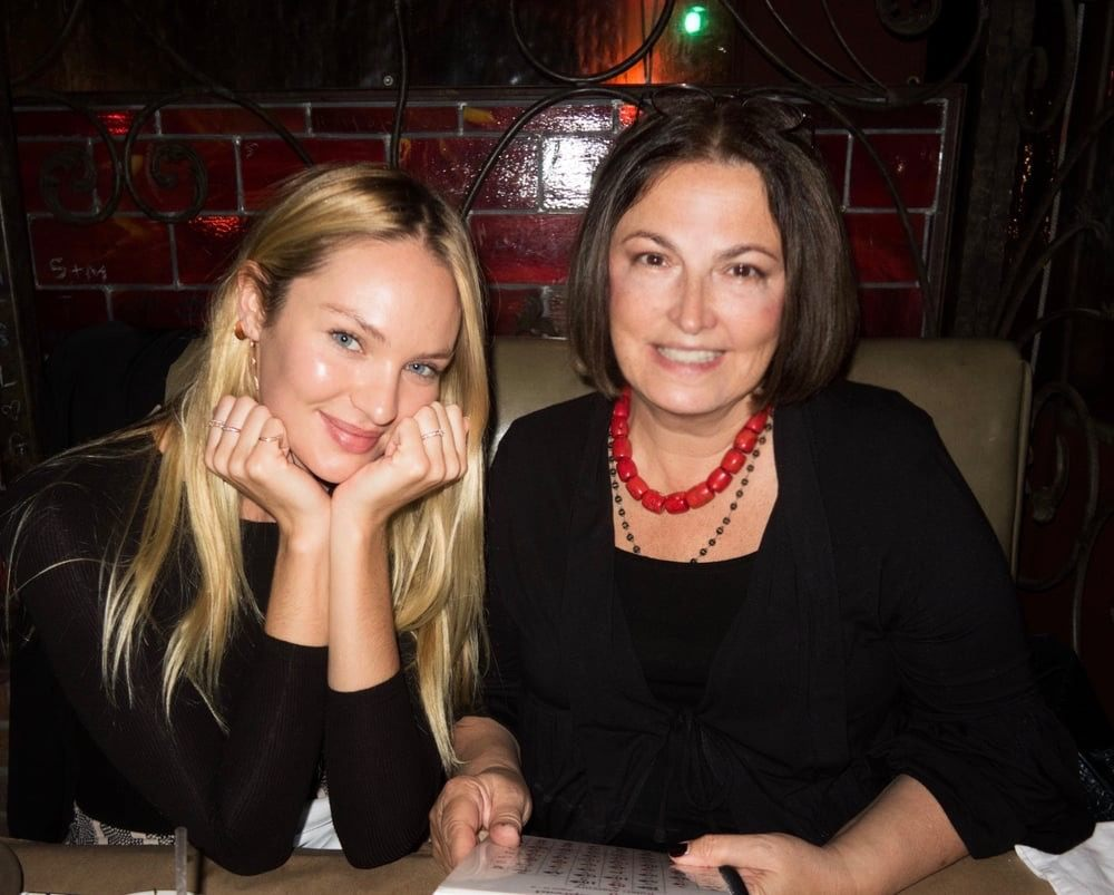 My happy client, Candice Swanepoel, Victoria's Secret model, New York.