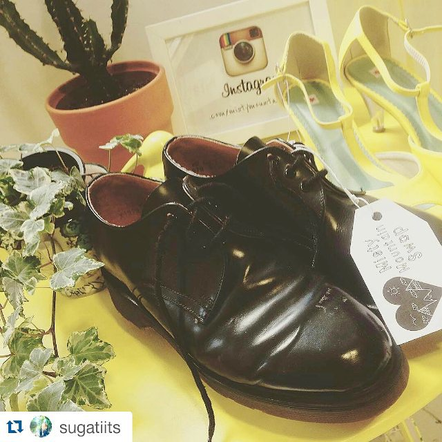 #Repost @sugatiits with @repostapp ・・・ Over the moon 🔭 got. Pair of doc martens for a fiver! Thanks too @mistymountainswop and her beautiful shop 😘 go check it out !! #docmartens #swap #shop