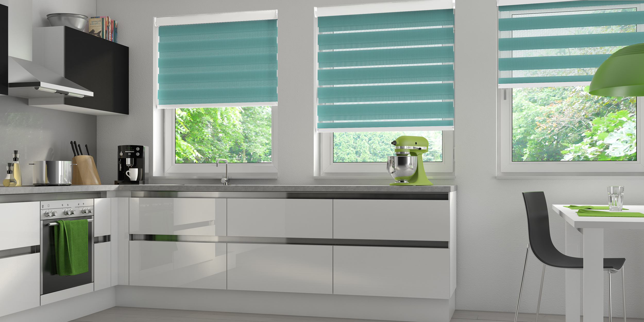 blinds wood for clean kitchen waterproof venetians easy to faux your