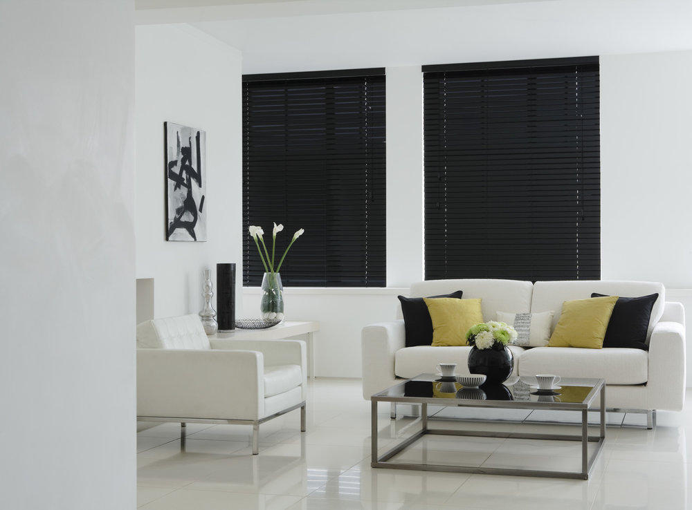 Privacy wooden blinds